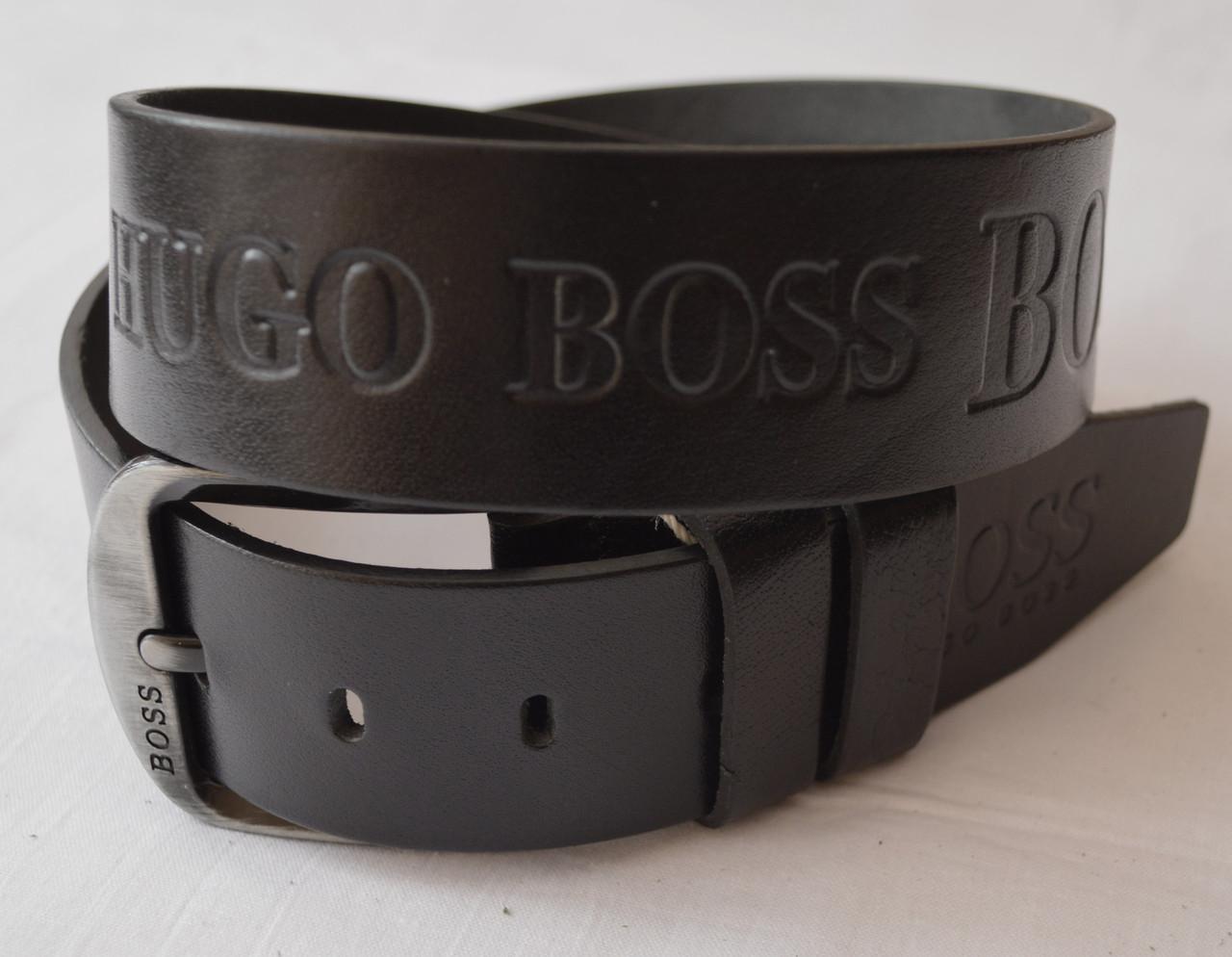 Кожаный мужской ремень HUGO BOSS (копия)