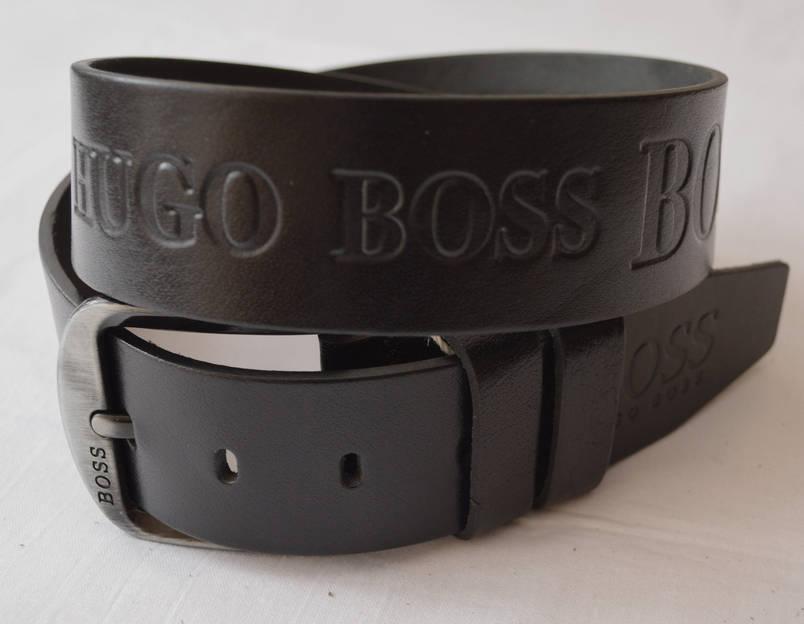 Кожаный мужской ремень HUGO BOSS (копия), фото 2