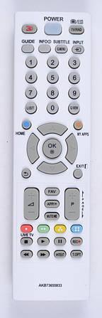 Пульт LG AKB73655833  (LED TV) (CE)