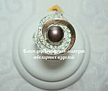 Серебряный набор украшений 058 серьги и кольцо, фото 8