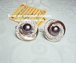 Серебряный набор украшений 058 серьги и кольцо, фото 9