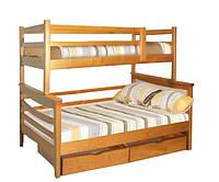 Кровать двухярусная из натурального дерева Санта Семейная