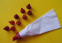 Мешок кондитерский тканевый с пластиковыми насадками, фото 1