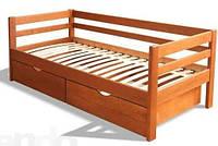 Односпальная кровать из натурального дерева Моника 0,7м х1,4м