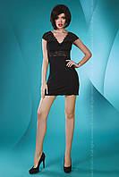 Черный пеньюар/сорочка с кружевными плечиками Accalia LiviaCorsetti (Ливия Корсетти)