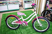 """Детский велосипед Cyclone Muza 20"""" бело-розовый"""