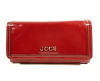 Кошелек женский кожаный на кнопке красный JCCS 3053, фото 1