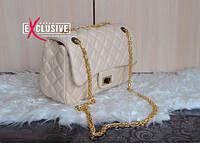 """Классическая сумка """"Chanel"""" молочная."""