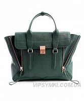 Женская сумка в стиле PHILLIP LIM MEDIUM PASHLI NAVY GREEN (6420), фото 1