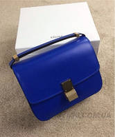 Женская сумка CELINE CLASSIC BOX SHOULDER BAG BLUE (7306), фото 1