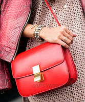 Женская сумка CELINE CLASSIC BOX SHOULDER BAG RED (7308)
