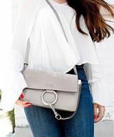Женская сумка в стиле CHLOE FAYE CROSS-BODY BAG GREY (2070), фото 1