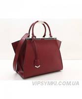 Женская сумка FENDI PETITE 3 JOURS BORDO (2695)