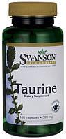 Таурин, Taurine, 500 мг, 100 капс, США