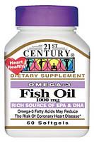 Омега 3 жирные кислоты для сердечно-сосудистой системы США 1000 мг 60 капсул