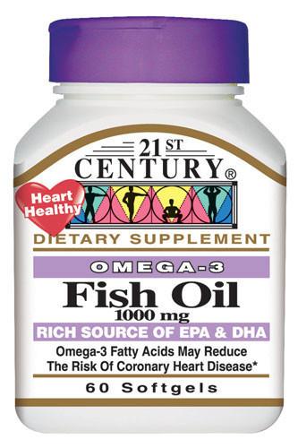 Омега 3 жирные кислоты для сердечно-сосудистой системы США 1000 мг 60 капсул - Vitamin.in.ua - интернет-магазин витаминов и минералов в Киеве