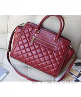 Женская сумка MICHAEL KORS SELMA QUILTED LARGE TOTE BAG BORDO (5559)