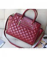 Женская сумка MICHAEL KORS SELMA QUILTED LARGE TOTE BAG BORDO (5559), фото 1