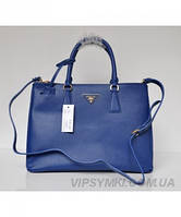 Женская сумка PRADA SAFFIANO LUX TOTE BAG NAVY BLUE (6850)