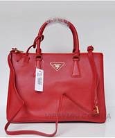 Женская сумка PRADA SAFFIANO LUX TOTE BAG RED (6903), фото 1