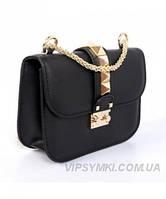 Женская сумка VALENTINO ROCKSTUD LOCK BLACK (7699)