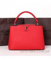 Женская сумка в стиле LOUIS VUITTON CAPUCINES RED (4008), фото 1