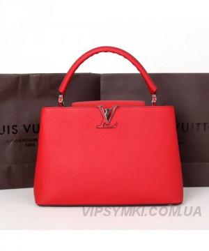 791bfbf5ffe0 Женская сумка LOUIS VUITTON CAPUCINES RED (4008): продажа, цена в ...