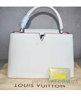 Женская сумка в стиле LOUIS VUITTON CAPUCINES WHITE (4020), фото 1