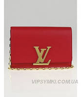 Женская сумка LOUIS VUITTON MM CHAIN RED (4070), фото 1