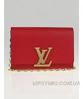 Женская сумка в стиле LOUIS VUITTON MM CHAIN RED (4070), фото 1