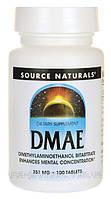 Дмаэ DMAE 351 мг 100 капс для мозга и памяти США