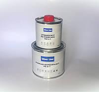 Грунт наполнитель HS 5:1SILVER LINEN 0.4л+0.08 (комплект) серый, белый, черный.