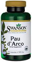 Поударка Pau D'Arco 500 мг 100 капс США Паударка