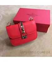 Женская сумка VALENTINO ROCKSTUD LOCK RED (7680), фото 1