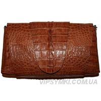 Женская сумка из кожи крокодила (FCM 320 Brown), фото 1