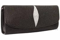 Женская сумка из кожи ската (ST 201 Black)