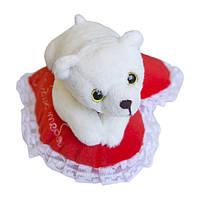 Мягкая игрушка Медвежонок Кроха на сердце Люблю тебя 22 см