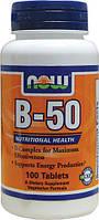 Комплекс B-50, 100 таблеток (комплекс витаминов группы B (B1, B2, B3, B5, B6, B12))