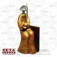 """Миниатюрная скульптура """"Самурай"""" (статуэтка, фигурка), материал каменная крошка."""