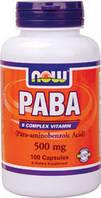 Парааминобензойная кислота (витамин В-10) PABA 500 мг 100 капсул