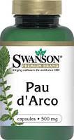 Пау д'Арко, Pau d'Arko, кора муравьинного дерева, 500 мг 100капс