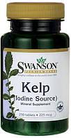Источник йода для поддержки щитовидной железы.Kelp 225 мкг 250 табл.