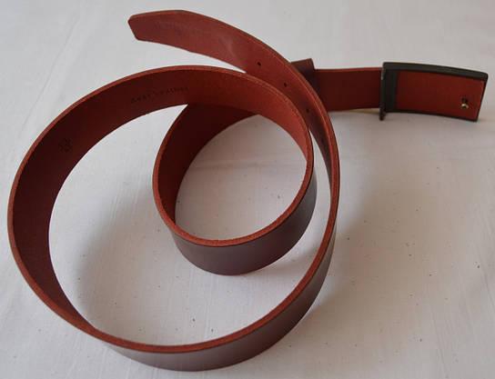 Кожаный ремень коньячного цвета, фото 3