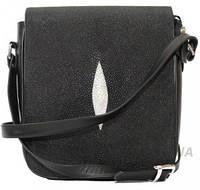 Мужская сумка из кожи ската (STCM 35 Black), фото 1