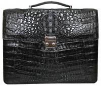 Мужской портфель из кожи крокодила (DCM 48 Black), фото 1
