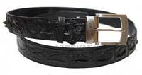 Ремень из кожи крокодила (105 ALB Black)