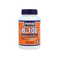 Комплекс B-100, 100 капсул (Комплекс витаминов группы B (B1, B2, B3, B5, B6, B12))