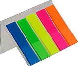 Закладки пластиковые NEON 45х12мм, 5цв.х25лист., фото 2