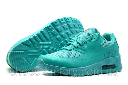 Кроссовки женские в стиле Nike Air Max 90 Hyperfuse USA, Бирюзовый, фото 2 c11d6d2a4d7