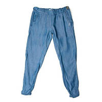 Низ лето брюки штаны легкие внизу на резинке, зауженные дев. синий 95%хлопок,5%эластан 13531566 Melby Италия 1